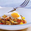 Idaho® Fingerling Potatoes with Shrimp and Quail Egg